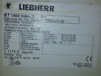 liebherr k hlschrank kt1404 defekt thermostat intakt. Black Bedroom Furniture Sets. Home Design Ideas